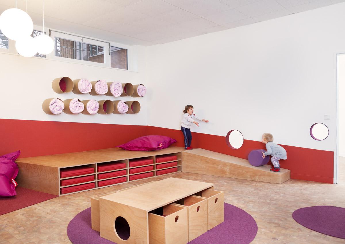 Kita sinneswandel baukind architekten for Raumgestaltung schule