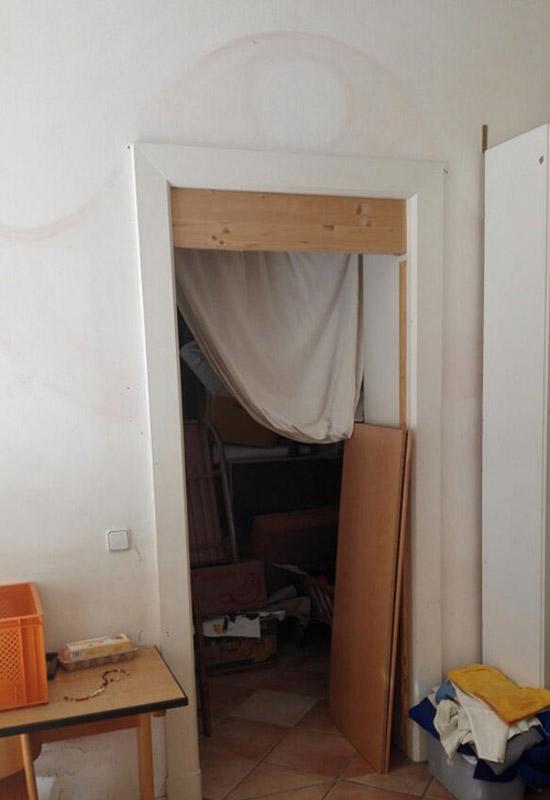 baukind Kita Spreesprotten Baustelle Durchgang